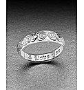 Sterling Silver Posey Love Ring