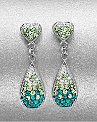 Sterling Silver Crystal Drop Earrings