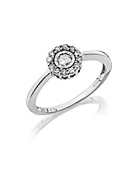9ct White Gold 1/4ct Illusion-Set Ring