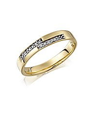 9ct Gold Ladies Diamond-Set Wedding Band