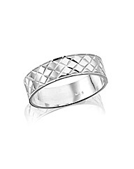 Ladies Sterling Silver 4mm Wedding Band