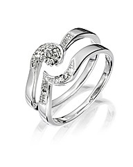 Sterling Silver Two-Piece Wedding Ring
