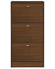 Naples Three Drawer Shoe Cabinet