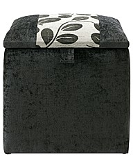 Eden Luxury Chenille Single Ottoman