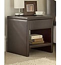 Faux Leather One Drawer Bedside Table