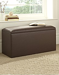 Faux Leather Single Ottoman Box