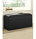 Faux Leather Double Ottoman Box