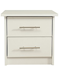 Stockholm Two Drawer Bedside Table