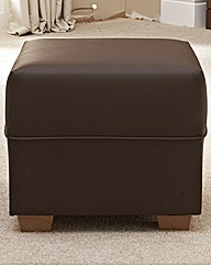 Aurora Faux Leather Footstool