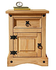 Monterrey 1 Drawer Narrow Bedside Table