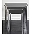 Odyssey Nest Of Tables - Black & Chrome