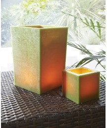 Set 2 Wax Container Cubes Green