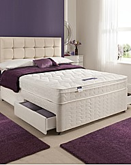 Silentnight Cushiontop KS Divan Set 2dr