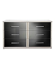 Monte Carlo High Gloss 6 Drawer Chest