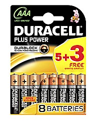 Duracell AAA 5 + 3 Battery Pack