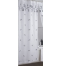 Rose Lined Voile Single Shower Curtain