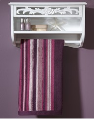 Rose Carved Towel Rail