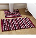 Chenille Stripe Bath Mat Set