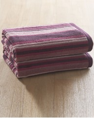 Pair Of Striped Bath Towels