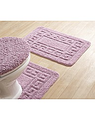 Greek Key Cotton Bath Mat Set