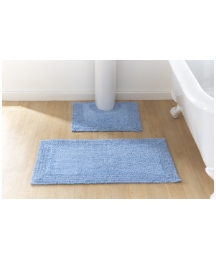 Reversible Cotton Bath Mat Set