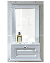 Grecian Mirrored Bathroom Cabinet