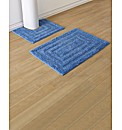 Plain Dye Two Piece Bath Mat Set