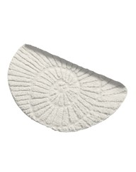 Sculptured Shell Half Moon Bath Mat