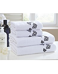 Butterflies Embroidered 4 Pc Towel Bale