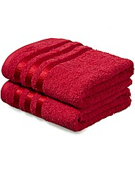 Pair of Luxury Cotton Hand Towels by CL