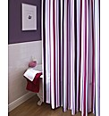 Striped Single Shower Curtain & Tie Back