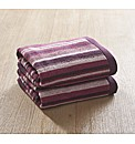 Pair Of Striped Hand Towels