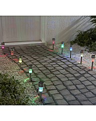 Pack of 10 Colour Changing Solar Lights