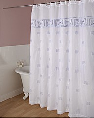 Greek Key Single Shower Curtain