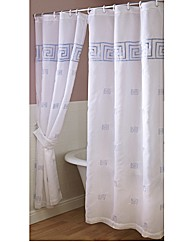 Greek Key Bath Curtain