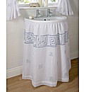 Greek Key Washbasin Curtain