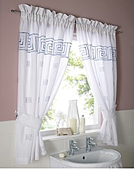Greek Key Curtain Set