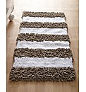 Nautical Stripe Chenille Large Bath Mat