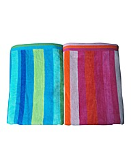 Pair of Egyptian Cotton Beach Towels