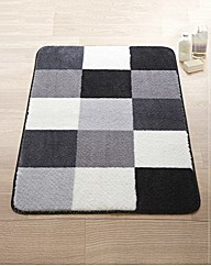 Shaggy Check Bath Mat