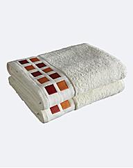 Mosaic Squares Pair of Bath Towels