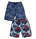 Southbay Pack of Two Print Swimshorts