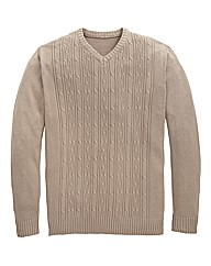 Southbay V Neck Cable Sweater