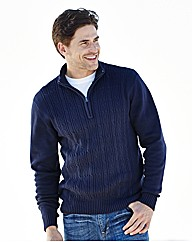 Southbay Zip Neck Cable Sweater