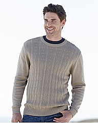 Southbay Crew Neck Cable Sweater