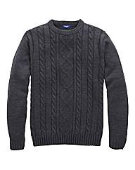 Premier Man Aran Crew Neck Sweater