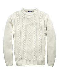 Premier Man Aran Crew Neck Sweater