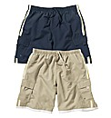 Premier Man Pack Of 2 Cargo Swimshorts