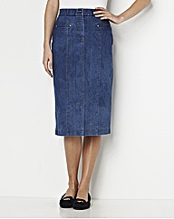MAGISCULPT Denim Skirt Length 25in