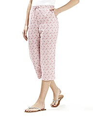 Print Crop Trousers 19in